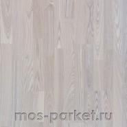 Паркетная доска Amber Wood Ясень Слоновая Кость трехполосная