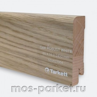 Плинтус Tarkett Дуб Робуст белый 60×16/23 мм