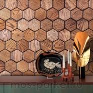 Деревянные стеновые панели Crownwood WP3D15050 Соты фаска