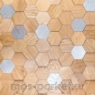 Деревянные стеновые панели Crownwood WP3D15R020 Соты 3Д