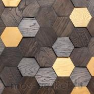 Деревянные стеновые панели Crownwood WP3D15R061 Соты спил