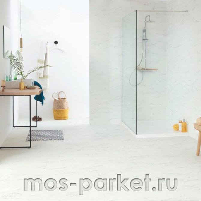Клеевой виниловый пол Quick-Step Ambient Glue Plus AMGP40136 Итальянский мрамор