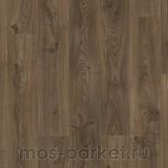 Замковый виниловый пол Quick-Step Balance Click BACL40027 Дуб Коттедж темно-коричневый